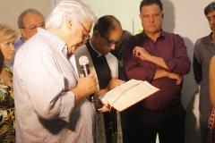 Ciro Cruz presidente do Conselho fez a leitura do trecho da Biblia